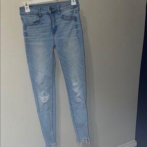 women's size 2 american eagle skinny jean